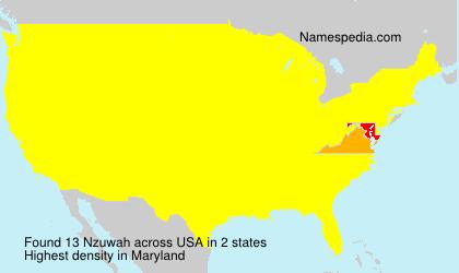 Familiennamen Nzuwah - USA
