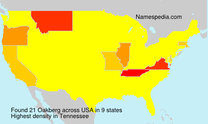 Surname Oakberg in USA