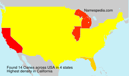 Surname Oanea in USA