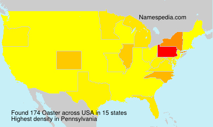 Surname Oaster in USA