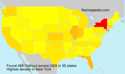 Surname Oathout in USA