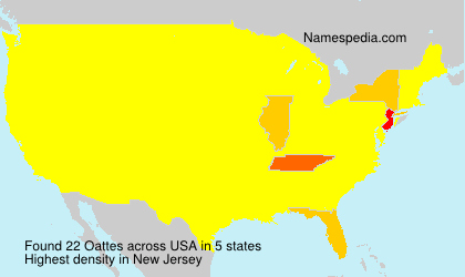 Surname Oattes in USA