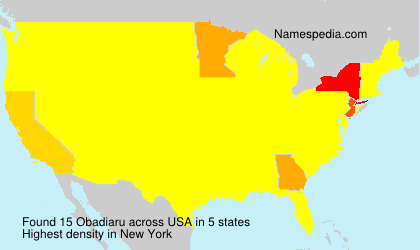 Surname Obadiaru in USA