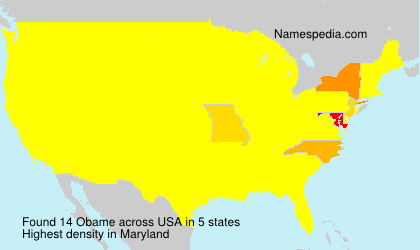 Surname Obame in USA
