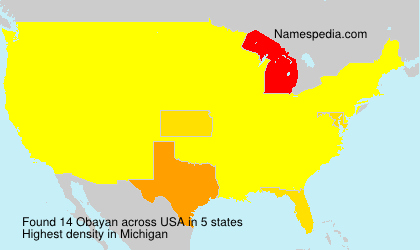 Surname Obayan in USA