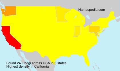 Familiennamen Obegi - USA