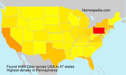 Familiennamen Ober - USA