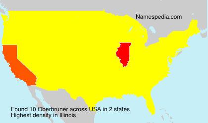 Surname Oberbruner in USA