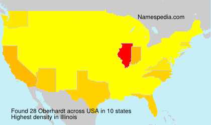 Surname Oberhardt in USA