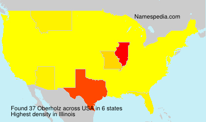Surname Oberholz in USA