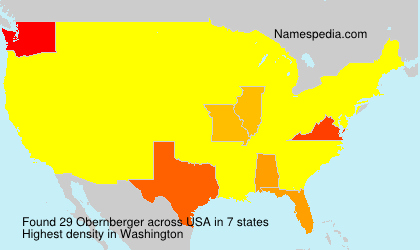 Surname Obernberger in USA