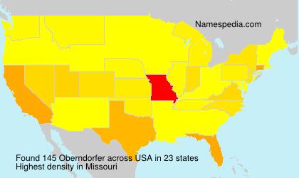 Surname Oberndorfer in USA