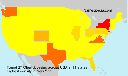 Surname Obertubbesing in USA