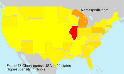 Surname Obery in USA