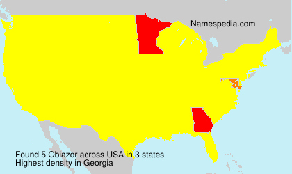 Surname Obiazor in USA