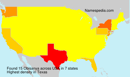 Surname Obisanya in USA