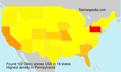 Surname Obley in USA