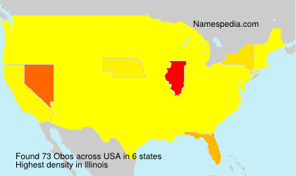 Surname Obos in USA