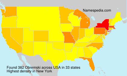 Familiennamen Obremski - USA