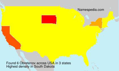 Surname Obretenov in USA