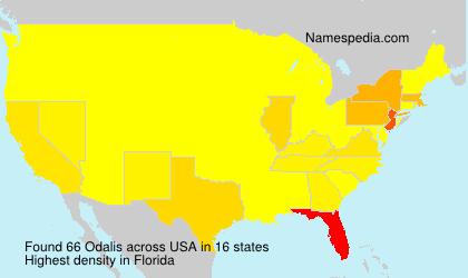 Surname Odalis in USA