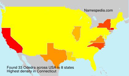 Familiennamen Odedra - USA