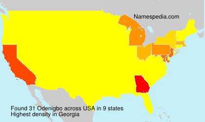 Surname Odenigbo in USA