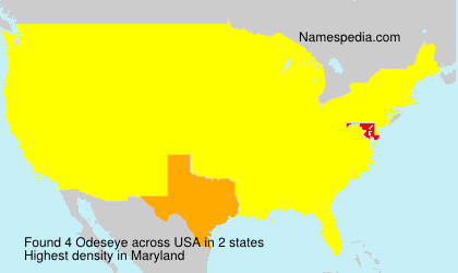 Surname Odeseye in USA