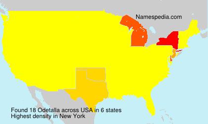 Surname Odetalla in USA
