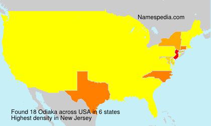 Surname Odiaka in USA