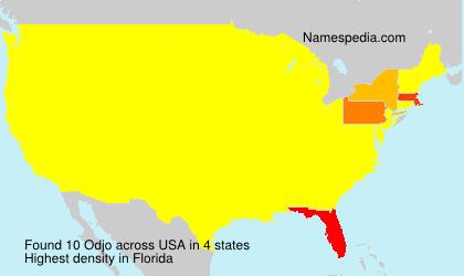 Familiennamen Odjo - USA