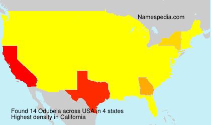 Surname Odubela in USA