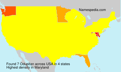 Familiennamen Odupitan - USA