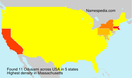 Surname Odusami in USA