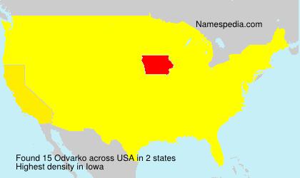Familiennamen Odvarko - USA