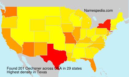 Surname Oechsner in USA
