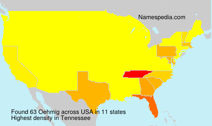 Surname Oehmig in USA