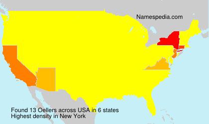 Familiennamen Oellers - USA