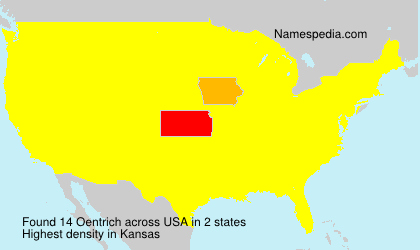 Surname Oentrich in USA