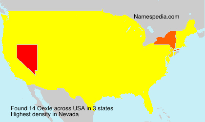 Surname Oexle in USA