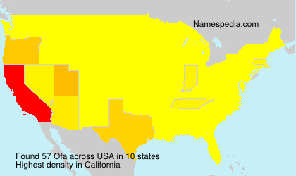 Surname Ofa in USA