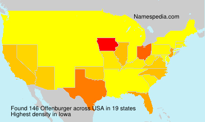 Surname Offenburger in USA