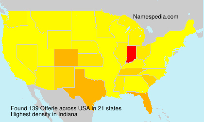 Surname Offerle in USA