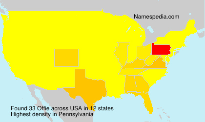 Surname Offie in USA