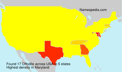 Surname Offodile in USA