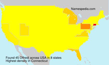 Surname Offredi in USA