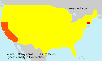 Surname Offsay in USA