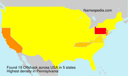 Surname Offshack in USA