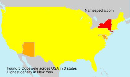 Familiennamen Ogbewele - USA