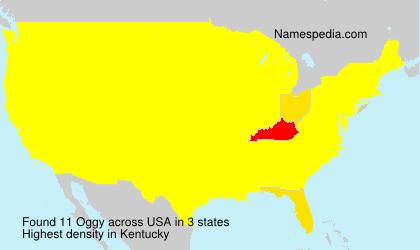 Familiennamen Oggy - USA